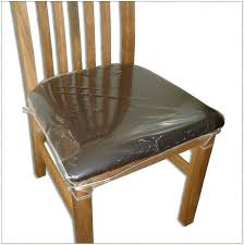 Plastic Dining Chair Covers Wonderful Clear Room Seat Chairs