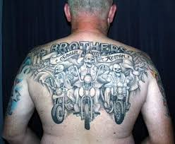 Harley Tattoo On Back Body