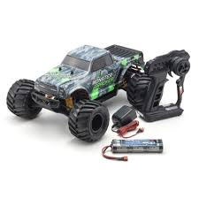 100 Monster Truck Remote Control Kyosho 110 Scale Electric Radio 2WD Readyset Tracker Color Type 1 With KT232P 34403T1
