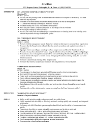 Corporate Receptionist Resume Samples | Velvet Jobs Receptionist Resume Examples Skills Job Description Tips Sample Pdf Valid Cover Letter For Template Where To Print Front Desk Archaicawful Medical Samples For And Free Forical Reference Velvet Jobs