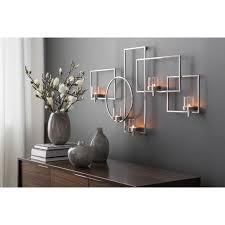 fink wanddekoobjekt escala silberfarben wandleuchter wandkerzenhalter wanddeko aus edelstahl mit 5 teelichthalter wohnzimmer