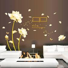 gold blumen schmetterling aufkleber englisch brief wandtattoos wohnzimmer schlafzimmer studie sofa dekorative wandtattoo tv hintergrund