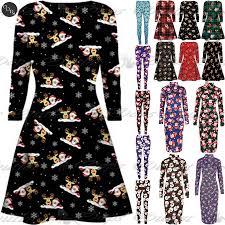 Ebay Christmas Trees Australia by Womens Christmas Swing Dress Ladies Xmas Santa Rudolph Olaf Gift