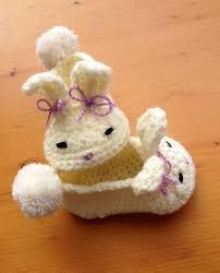 Zapatitos de ganchillo conejo Babuchas a ganchillo para bebé con
