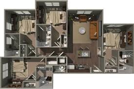 Bathroom Floor Plans With Washer And Dryer by Floorplans Campus View Clemson 2 3 U0026 4 Bedroom Apartments
