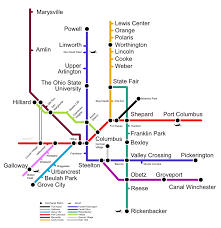 Potential Columbus Light Rail Map