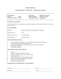Resume Child Care Sample Instructor Childcare Template Professional Day Center Director Cover Letter