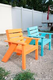 Free Plans For Wooden Lawn Chairs by Easy Diy Kids Patio Chairs A Houseful Of Handmade