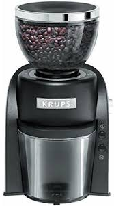 KRUPS GX6000 Burr Coffee Grinder With Grind Size And Cup Selection 8Ounce Black To