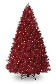 Treetopias Candy Apple Red Tinsel Christmas TreeInstead Of Roses Men Are Choosing Artificial Trees To Say I Love You