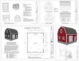 10 X 16 Shed Plans Gambrel by G537 20 X 24 X 10 Gambrel Barn Sds Plans