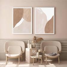 blass beige terrakotta abstrakte böhmen leinwand malerei