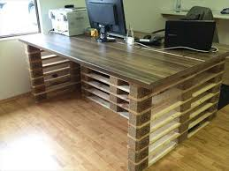 Wood Pallet fice Desk discovered by pallets furniture designs