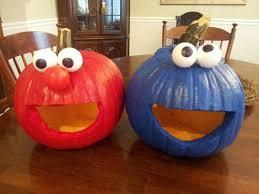 Elmo Cookie Monster Pumpkins What A Smart Decoration Idea For Sesame Street Party