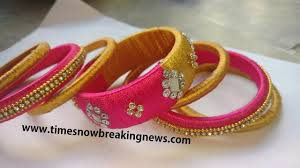 How To Make Designer Silk Thread Bangles At Home