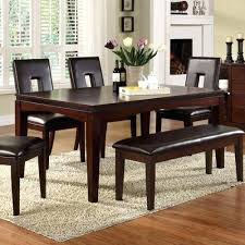 Bench Style Dining Room Tables Advanced Charming Wooden Table