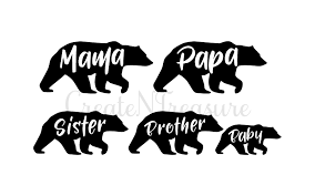 Mama Bear Svg Papa Cutting File For Cricut And Silhouette Cameo SVG DXF