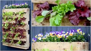 DIY Veggie Pallet Planter