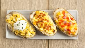 Breakfast Baked Potato Boats Stuffed With Cheesy Eggs - TODAY.com Baked Potato Bar Restaurant Potatoes For A Crowd Diy The Ultimate Twice Notable Nest Cfc 125 Trickin Out The Beverage Dispenser Best Twice Baked Potatoes Recipe Cheese Herb Fans Recipe Taste Of Home Hot Dinner Happy Super Easy Meal 2 Smarty Pants Mama Best 25 Potato Bar Ideas On Pinterest Used Toppings Ways To Top Delishcom Buildyourown Evite