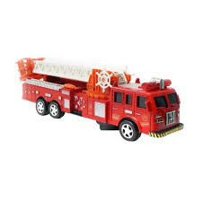 Jual MOMO Truck Fire Engine Mini Pull Back Series Diecast - Merah ...