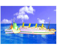 Brittanic Sinking by Britannic Explosion Image Encyclopedia Titanica Message Board