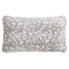 nicole miller winston faux fur throw pillow 14x24 save 31