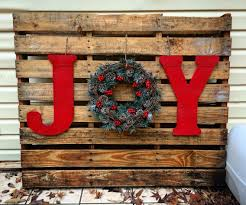 Love My Joy Pallet I Got To Make This Afternoon Letters And Paint ChristmasPallet Xmas IdeasPallet Projects ChristmasDiy ChristmasHoliday