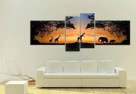 acrylglasbilder sunset 4 teilig k l wall