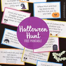 Easy Halloween Scavenger Hunt Clues by Halloween Hunt Free Printable Picklebums