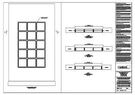 DWG Typical Glass Block Panel Supported On Four Sides