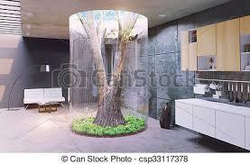 modernes haus öko design des modernen interieurs echter