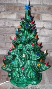 Vintage Atlantic Mold Ceramic Christmas Tree by Vintage Ceramic Christmas Tree With Lights 11 Inches Christmas