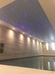 Fibre Optic Ceiling Lighting by London Basement Swimming Pool And Steam Room