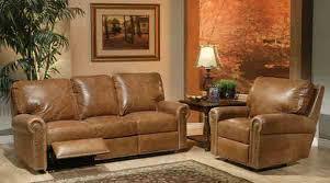 Leather Fairfield Reclining Sofa