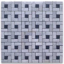 carrara marble tile italian white target pinwheel mosaic w