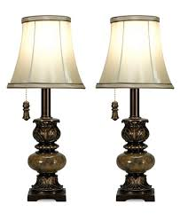 StyleCraft Set of 2 Trieste Marble Accent Mini Table Lamps