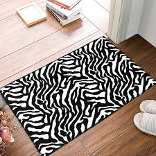 Amazoncom Modern Soft Zebra Rug Black White Doormat Carpet