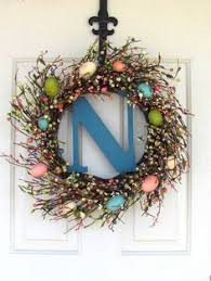 Primitive Easter Home Decor by Easter Bunny Wreath Farmhouse Easter Wreath Easter Egg Wreath
