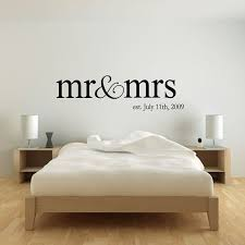 Mr And Mrs Wall Decal Bedroom By StickyWallVinyl