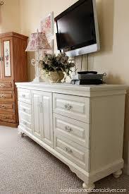 White Painted Frames Diy New Oak Dresser Makeover