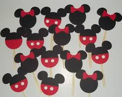 24 mickey and minnie cupcake toppers mickey mouse birthday