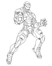 Coloring Page Iron Man Superheroes 51