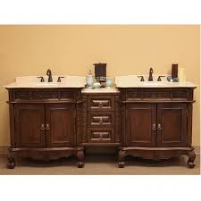 Antique Bathroom Vanity Double Sink by 83 Inch Double Sink Bathroom Vanity In Medium Walnut Uvbh202016ad83