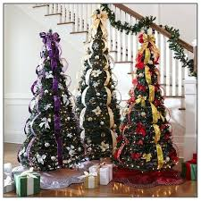 Pull Up Christmas Trees Decorated Tree Pre Lit