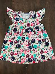 flower dresses 2016 girls cotton frock designs wholesale