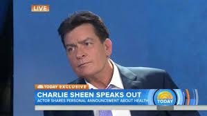 Matt Lauer Halloween Snl by Charlie Sheen Reveals He U0027s Hiv Positive Hollywood Reporter