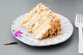 A slice of Momofuku Milk Bar birthday cake
