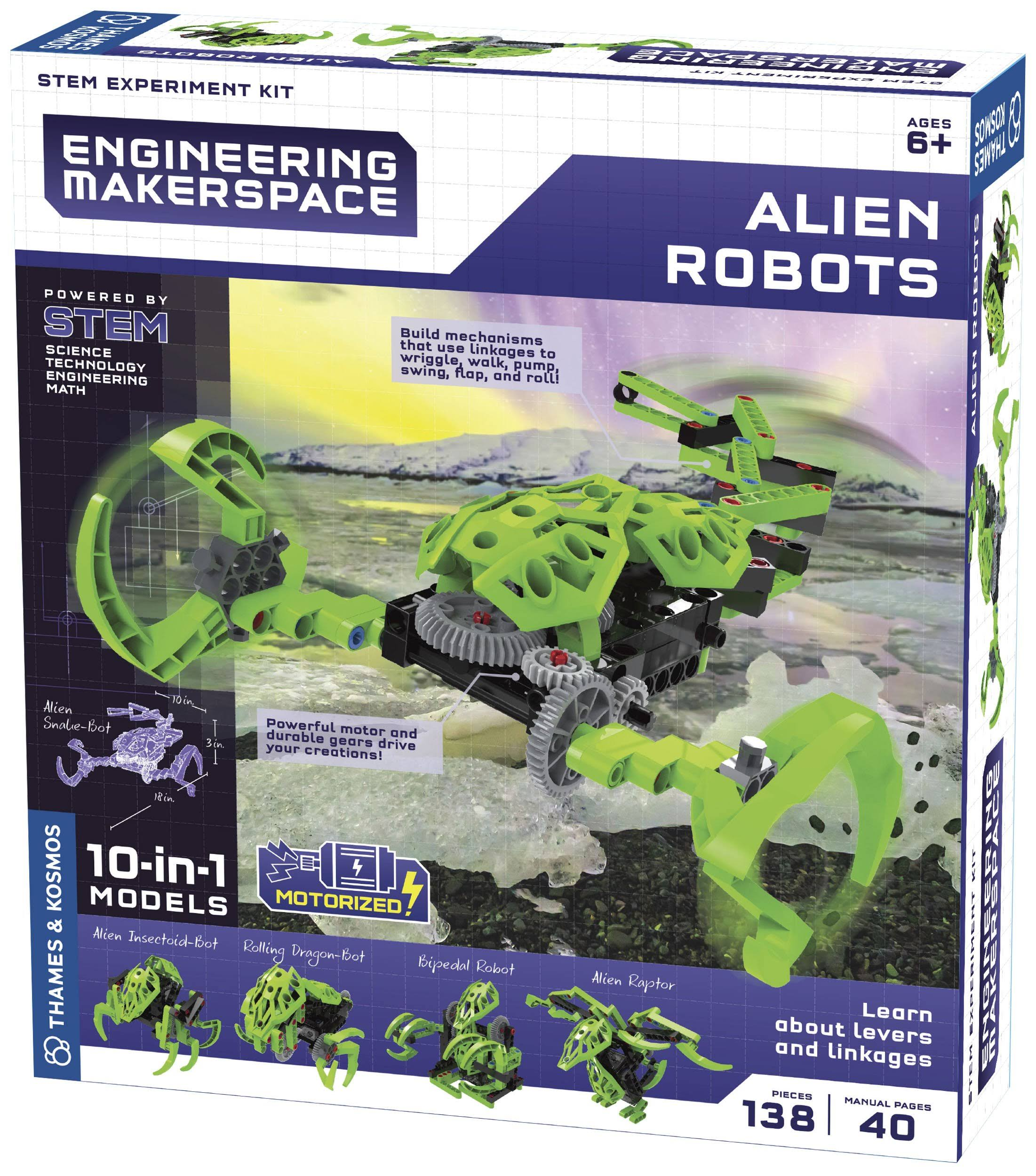 Thames & Kosmos 555062 Alien Robots Science Experiment Kit, Multi