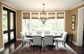 Formal Dining Room Bay Window Treatments And Bathroom Surprising