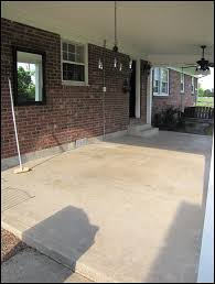 new tile patio floor reveal patios concrete and front porches